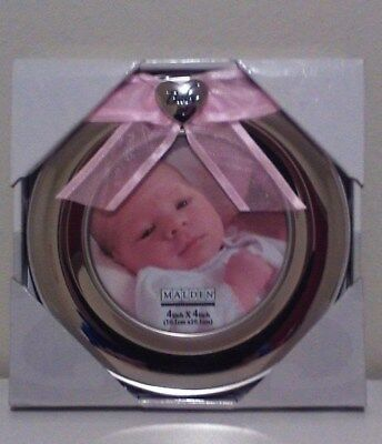 Malden Baby Pink Ribbon 4x4 Picture Frame Very Cute