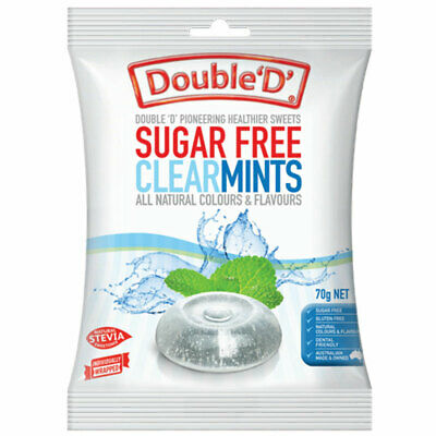 Double D Sugarfree Clear Mints 70g