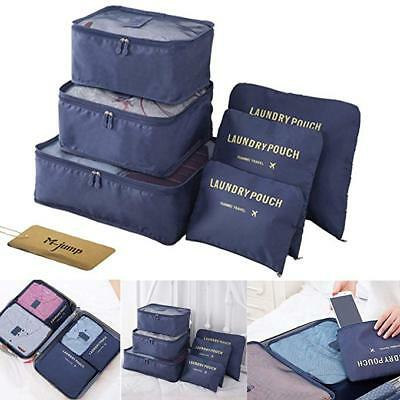 6PC Cube Travel Suitcase Storage Bag Pouches Luggage Organizer for Cloth Packing