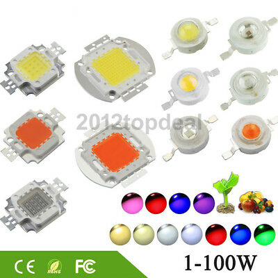 High Power LED Chip 1W-100W COB SMD LED Bead White RGB UV Grow Full Spectrum