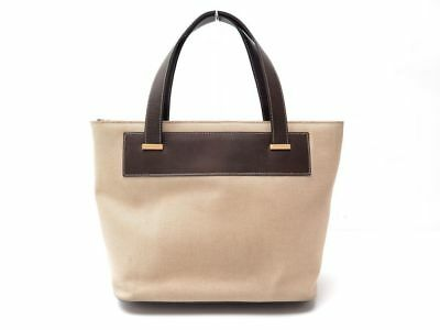 334ec39914 Leather amp; A Beige amp; Hand SAC Celine Canvas MAIN Cuir Bag Toile Cabas  gdf7qw