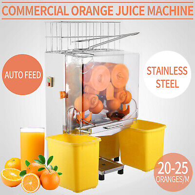 Electric Commercial Auto Feed Orange Juicer  Citrus Juice Machine Squeezer Hot
