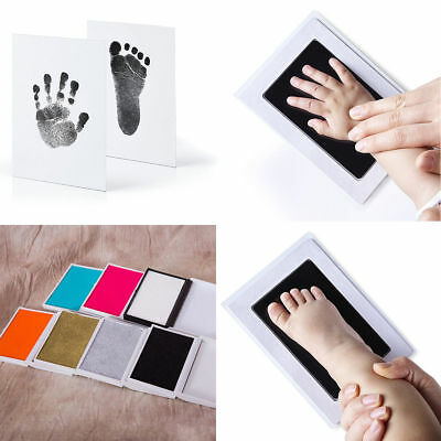 Cute Inkless Wipe Baby Kit Hand Foot Print Keepsake Newborn Footprint Handprint