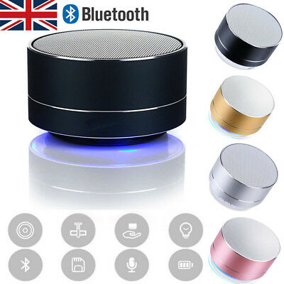 UK Bluetooth LED Wireless Speaker Portable&Rechargeable For Samsung iPhone iPad
