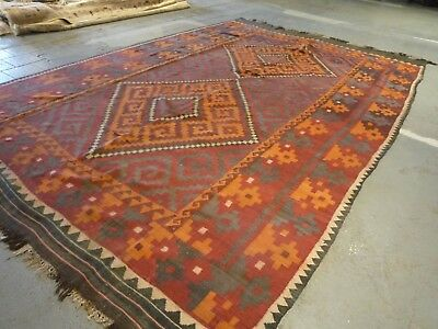 "A large Afghan kilim oriental carpet, rug ( 15ft.5"" x 10ft.2"" )"