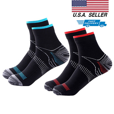 Copper Ankle Compression Socks Pain Relief Calf Foot Stockings For Men Women Sox