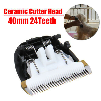 24 Teeth Pet Trimmer Clipper Blade Ceramic Cutter Head Hair Grooming Trimming