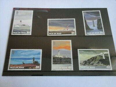 Isle of Man 1996 Set of 6 mint stamps -  Lighthouses