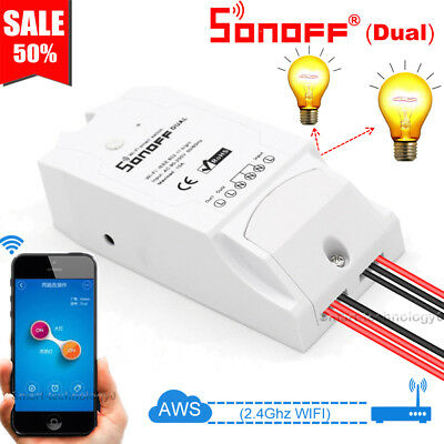 Sonoff Dual 2CH Smart Home APP Ctrl WiFi Wireless Switch Module For IOS Android