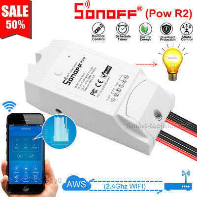 Sonoff POW R2 Timer Energy Power Monitoring Consumption Timing IFTTT APP Ctrl
