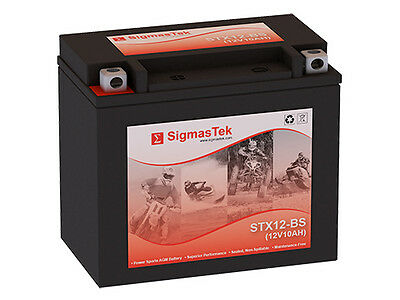 Replacement Battery Compatible with YTX12-BS High Performance - Maintenance Free