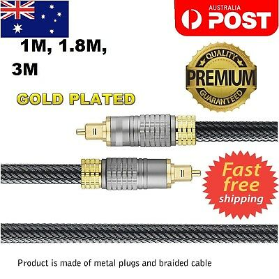 Optical Fiber Cable Gold Plated Ultra Premium Toslink 5.1 7.1 Digital HD Audio