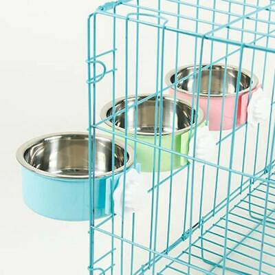 Pet Dog Cat Insulation Bowl Food Feeders Suspension Fixation Stainless Steel FI