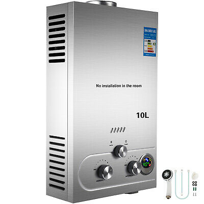 10L Tankless Propane Gas LPG Instant On-Demand Hot Water Heater With Showers