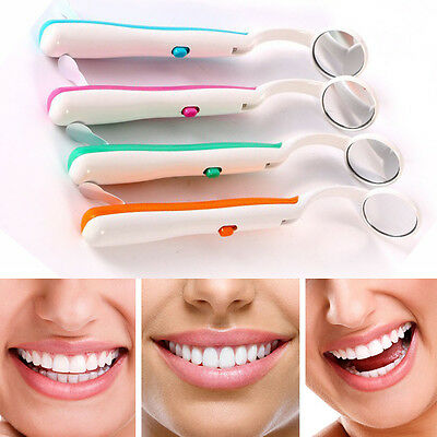 New 1Pc Bright Durable Dental Mouth Mirror with LED Light Professional Au uops