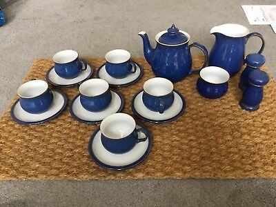 Denby Imperial Blue Tea/Coffee Set