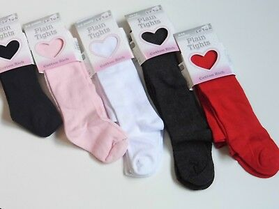 Baby , Toddler & Girl   Plain Coloured  Cotton Tights  In Assorted Colours