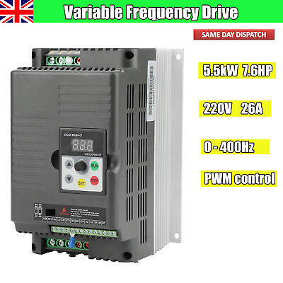 Universal 5.5KW 220V Variable Frequency Drive Inverter VFD 7.6HP 26A Fr AC Motor