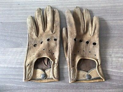 Lovely Vintage/ Retro Leather Ladies Driving Gloves