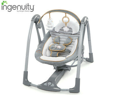 Ingenuity Swing 'n Go Portable Swing - Bella Teddy