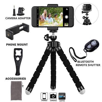 Adjustable Phone Tripod Holder with Universal Clip and Remote Shutter Release