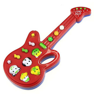 Electronic Guitar Toy Nursery Rhyme Music Children Baby Kids Gift N6Q3 EL