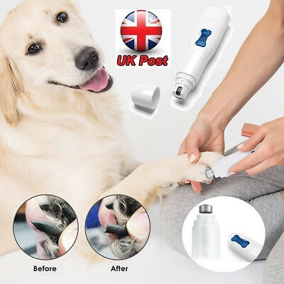 Dog Cat Electric Pet Nail Grinder Grooming Paw Trimmer Nail Claw File Clippers