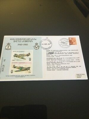 1980 40th Anniversary Of The Battle Of Britain RAF Flight FDC