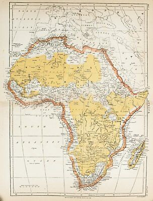 1887 Africa Britannica Antique Map