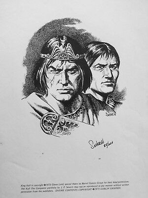 "Signed J. P. Severin ""King Kull The Conquerer"" Limited Edition Print"