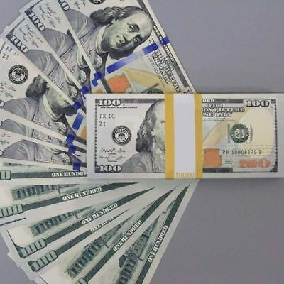 100 Sheets 100Dollar Fake Currency Bills USA Banknote Money Bank Note Paper Gift