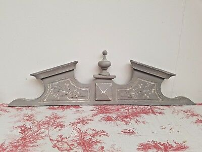 Gorgeous Antique French Shabby Chic Carved Oak Crest - C1900