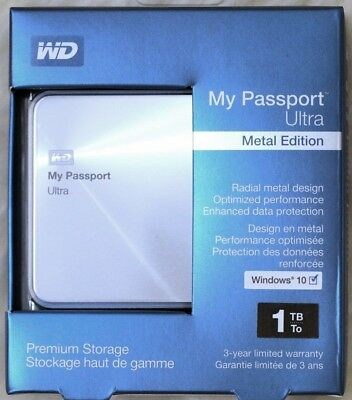 WD My Passport Ultra Portable Hard Drive 1TB Metal Edition NEW & SEALED!