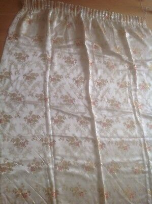 Vintage 30S 40S Floral Satin Brocade Curtain, Fabric Material Excellent