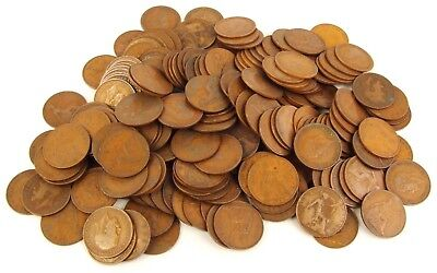 Huge Lot of United Kingdom English Large Pennies - 200 Coins - Mixed Condition