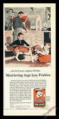 Print Ad~1956~Friskies Dog Food~Basset Hound~Color~Family Workshop~I200