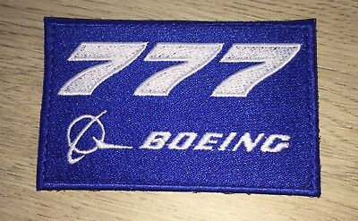 Ecusson Boeing 777 Sticker Embroidered Boeing 777 Patch with Velcro hook loop