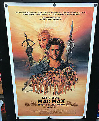 Original 1985 MAD MAX BEYOND THUNDERDOME Advance One Sheet Movie Poster Rolled