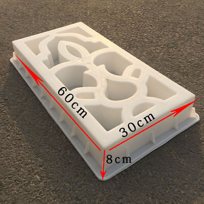 60*30cm Antique Concrete Plastic Lattice Mold Cement Wall Garden Yard Mould Home