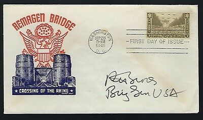 Richard H. Groves signed cover served US Army WWII & Vietnam