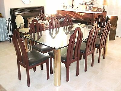 Pace Leon Rosen Glass Dining Table 8 Chairs