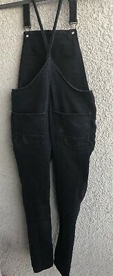 Zara girl's overalls casual collection, Black denim, Size 11-12