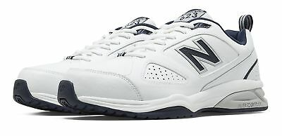 New Balance Men's 623v3 Trainer Shoes White with Navy
