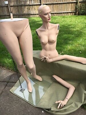 Adele Rootstein vintage female mannequin V8 Art Deco Made in USA. Some Wear.