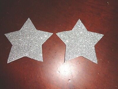Paties/ Nipple Covers Silver Glitter Stars Water Resistant