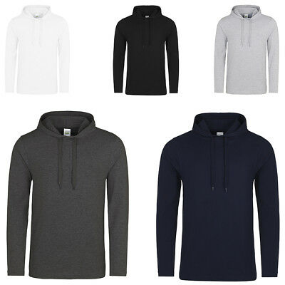 New Men's AWDis Hoods Soft Feel Lightweight Slim Fit Drawcord Hoodie Size XS-2XL