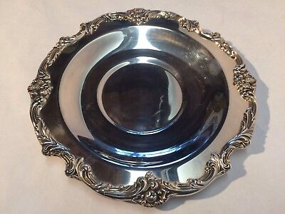 Reed & Barton King Francis 1678 Silver Plated Serving Tray w/ Sculpted Border