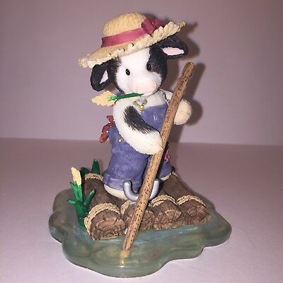 "Mary Moo Moos ""Moo-Rily We Float Along"" Cow Figurine *please Read Description*"