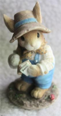 """My Blushing Bunnies - """"Friendship is the Seed of Life""""  Enesco"""