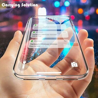 For iPhone XS / XS MAX / XR Crystal Clear Case Transparent Soft TPU Rubber
